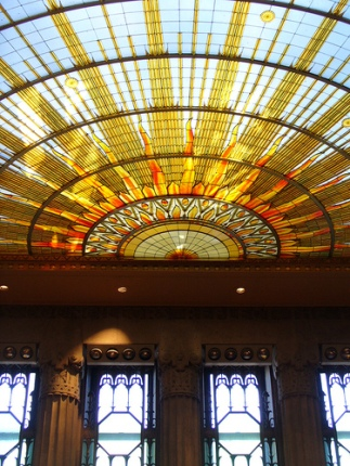 Art nouveau stained glass my blog for Interior design challenge art deco